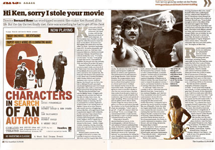 Guardian article on Ken Russell - click through to www.guardian.co.uk